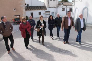 Visita de Ruiz Santos a la localidad de Fuensanta