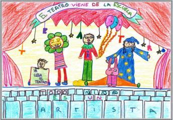 Cartel teatro escuela