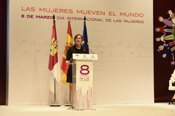 Araceli Martínez en el acto institucional del Día Internacional de las Mujeres