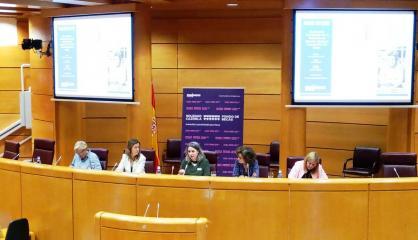 La directora del Instituto de la Mujer, Araceli Martínez, participa como ponente en la Mesa 'Propuestas para la reparación del daño de la violencia de género a las y los menores en las II Jornadas 'Huérfan@s de la violencia de género' en el Senado