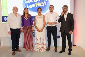 """Presentación de la campaña """"Sin un Sí, ¡Es No!"""" en la Feria de Albacete"""
