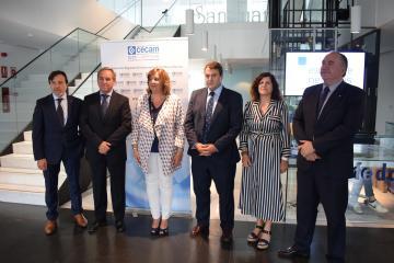 La consejera de Economía, Empresas y Empleo, Patricia Franco, asiste al Comité de CECAM, que se desarrolla en las instalaciones de la Confederación de Empresarios de Albacete (FEDA)
