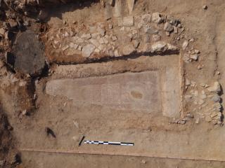 El Gobierno regional pone en valor los trabajos de recuperación de una lauda sepulcral visigoda en el yacimiento arqueológico de Oreto