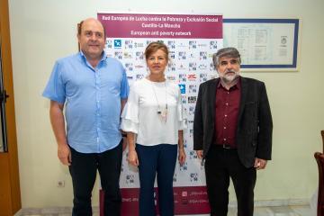 La consejera de Bienestar, Aurelia Sánchez, asiste a la asamblea de responsables de EAPN. Escuela de Hostelería de Toledo