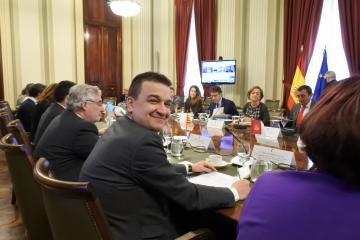 El consejero de Agricultura, Agua y Desarrollo Rural, Francisco Martínez Arroyo, asiste la reunión del Consejo Consultivo de Política Agrícola para asuntos comunitarios.