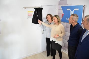 La consejera de Economía, Empresas y Empleo, Patricia Franco, asiste al acto de inauguración del Centro de Formación Avanzada de DHL-Randstad