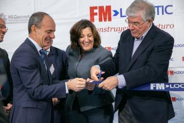 La consejera de Economía, Empresas y Empleo, inaugura la ampliación de la empresa FM Logistics