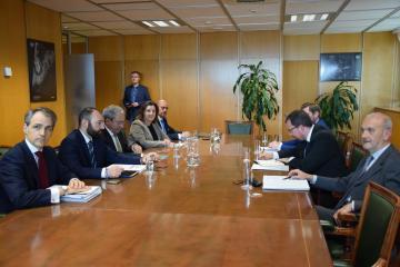 Patricia Franco participan en la reunión sobre Airbus celebrada en el Ministerio de Industria