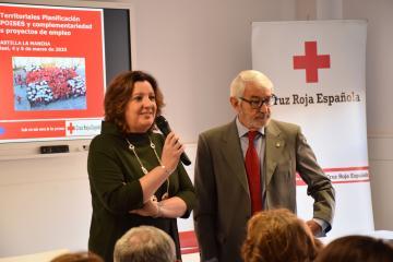 La consejera de Economía, Empresas y Empleo, Patricia Franco, abre la segunda jornada del Seminario Territorial del Plan de Empleo de Cruz Roja