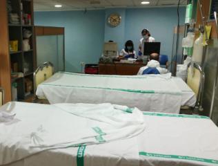 Foto de espacios habilitados para aumentar la respuesta del Hospital de Albacete