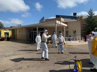 Plan de Limpieza de GEACAM en las Residencias Los Álamos y Alcabala en Albacete