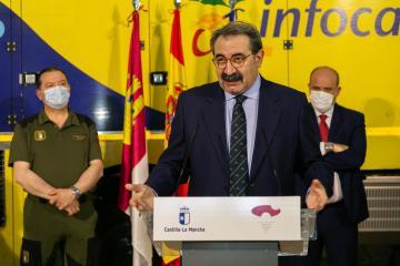 Visita a las instalaciones del Centro Operativo Provincial (COP) en Cuenca (Sanidad)
