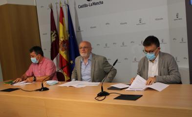 Rueda de prensa de las obras RAM en centros educativos Albacete