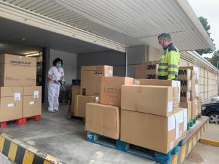 Nuevo envío de material de protección para gerencias sanitarias Albacete