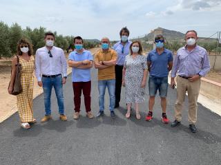 Visita obras de mejora en caminos rurales de Caudete