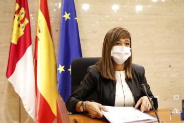 La directora del Instituto de la Mujer, Pilar Callado, comparece en las Cortes regionales para dar cuenta del informe de la Ley 4/2018 para una Sociedad Libre de Violencia de Género en Castilla-La Mancha relativo al año 2019.