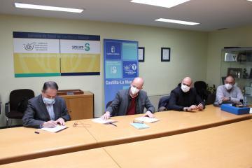 El SESCAM, la Dirección Facultativa y la empresa constructora firman el Acta de Replanteo de las obras de reforma y ampliación del Complejo Hospitalario Universitario de Albacete