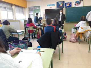 Visita del delegado de Educación al CEIP San Antón