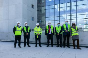 Visita a las obras del nuevo Hospital Universitario de Cuenca (Sanidad)