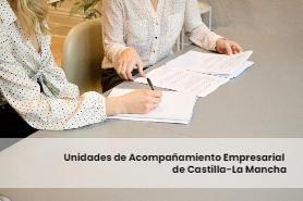 Tutoras de la Unidad de Acompañamiento Empresarial del Gobierno de Castilla-La Mancha