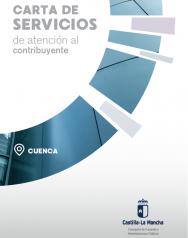 Caratula folleto informativo carta de servicios de atención al contribuyente de cuenca