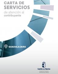 Caratula folleto divulgativo de la carta de servicios del centro de atención al contribuyente