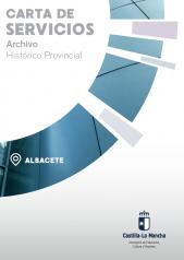 Caratula Folleto carta de servicios Archivo historico provincial de albacete
