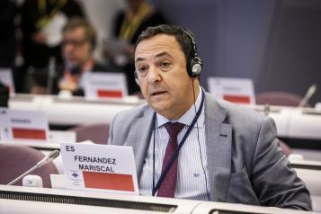 El director general de de Relaciones Institucionales y Asuntos Europeos, Cruz Fernández Mariscal