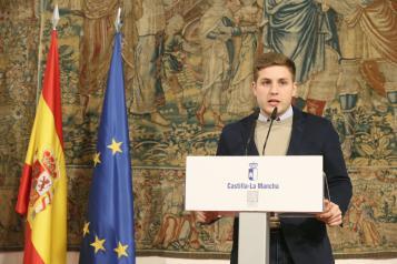 El portavoz regional, Nacho Hernando, informando sobre los acuerdos del Consejo de Gobierno