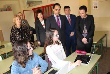 Visita al Instituto de Educación Secundaria 'Leonardo da Vinci' de Albacete