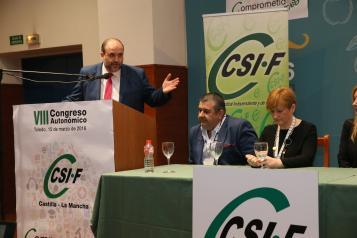 Clausura del VIII Congreso Autonómico de CSI-F Castilla-La Mancha
