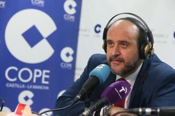 Martínez Guijarro durante la entrevista en la Cadena COPE