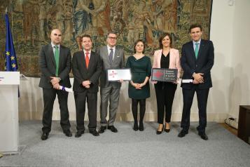 El presidente de Castilla-La Mancha, Emiliano García-Page, preside el acto de entrega de los Distintivos de Excelencia Empresarial en Igualdad, Conciliación y Responsabilidad Social Corporativa