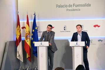 El consejero de Agricultura, Medio Ambiente y Desarrollo Rural, Francisco Martínez, informa de los acuerdos del Consejo de Gobierno