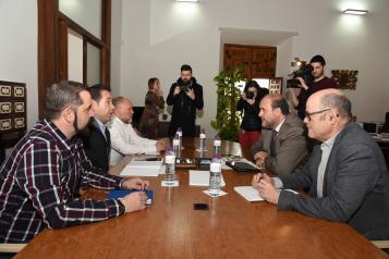 El vicepresidente regional mantiene una reunión con el coordinador de Izquierda Unida