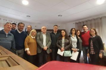 Ruiz Santos se ha reunido con la Fundación Savia y Empresarios de Ossa de Montiel
