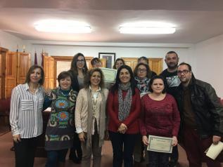 Acto de entrega de diplomas del PRIS de Liétor (Albacete)