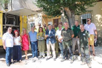 Visita de Ruiz Santos al Retén de Infocam en Casas de Lázaro