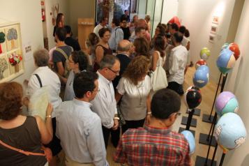 El stand de la Junta en la Feria de Albacete acoge una exposición de artistas