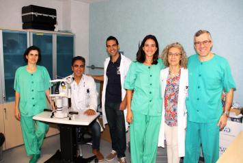 El Servicio de Oftalmología del Hospital Mancha Centro emplea con éxito un novedoso microimplante de colágeno para combatir el glaucoma