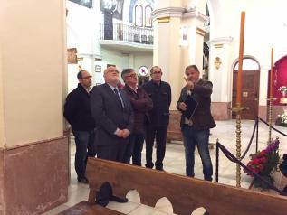 Visita de Ruiz Santos a la ermita de la Virgen del Rosario en Hellín