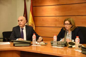 El director general de Carreteras y Transportes, David Merino, comparece en la Comisión de Fomento en las Cortes de Castilla-La Mancha