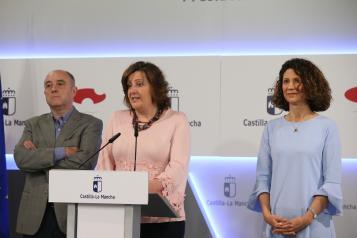 La consejera de Economía, Empresas y Empleo, Patricia Franco, informa de los acuerdos del Consejo de Gobierno relacionados con su departamento