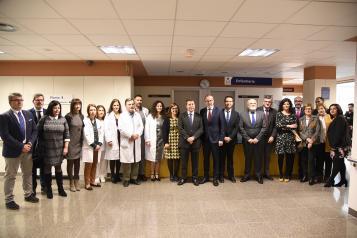 Visita a la Unidad de Hospitalización del Hospital General de Villarrobledo