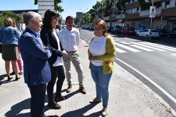 La consejera de Fomento ha visitado las obras de la carretera CM-4101 que va desde Talavera a Calera y Chozas