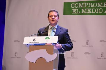 """El presidente García-Page exige """"coherencia"""" y """"coraje"""" al Gobierno de España para acabar con el trasvase Tajo-Segura"""
