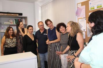 La consejera de Igualdad y portavoz del Gobierno de Castilla-La Mancha, Blanca Fernández, visita, las instalaciones del Centro de la Mujer de Ciudad Real