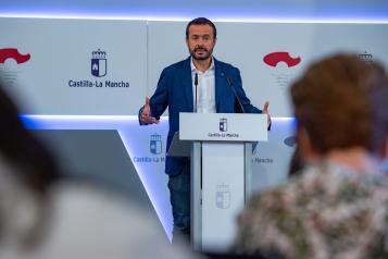 El consejero de Desarrollo Sostenible, José Luis Escudero, informar de los acuerdos aprobados en el Consejo de Gobierno relacionados con su departamento