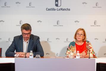 La viceconsejera de Promoción a la Autonomía y Atención a la Dependencia, Ana Saavedra, ofrece una rueda de prensa sobre datos de Dependencia del mes de agosto