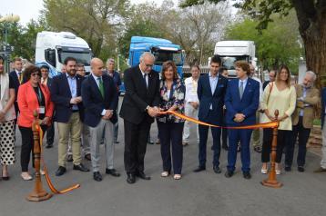 ).- La consejera de Economía, Empresas y Empleo, Patricia Franco, asiste a la inauguración de la primera Feria Nacional de Vehículos Industriales de Ocasión de Manzanares.